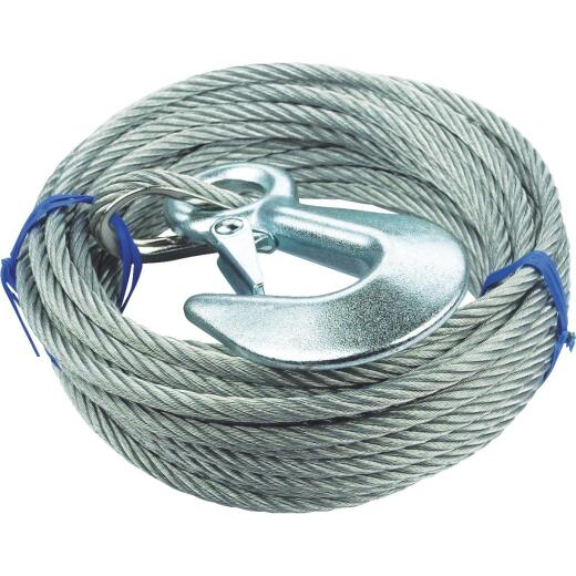"Seachoice 3/16"" x 25' Galvanized Winch Cable"