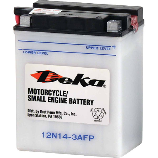 Deka 12-Volt 128 CCA Powersport Battery, Right Front Positive Terminal