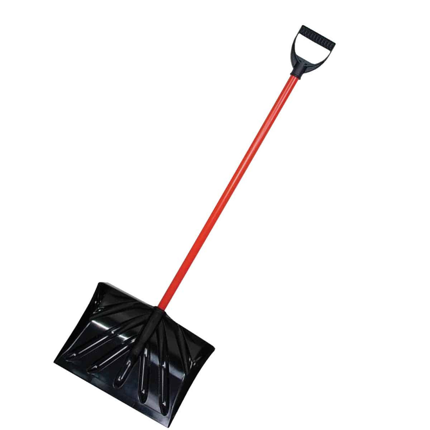 True Temper 16 In. Poly Snow Shovel & Pusher with 36 In. Steel Handle Image 1