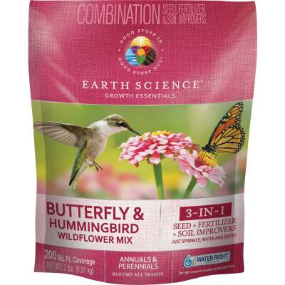 Earth Science  All-In-One 2 Lb. 200 Sq. Ft. Coverage Butterfly & Hummingbird Wildflower Seed Mix