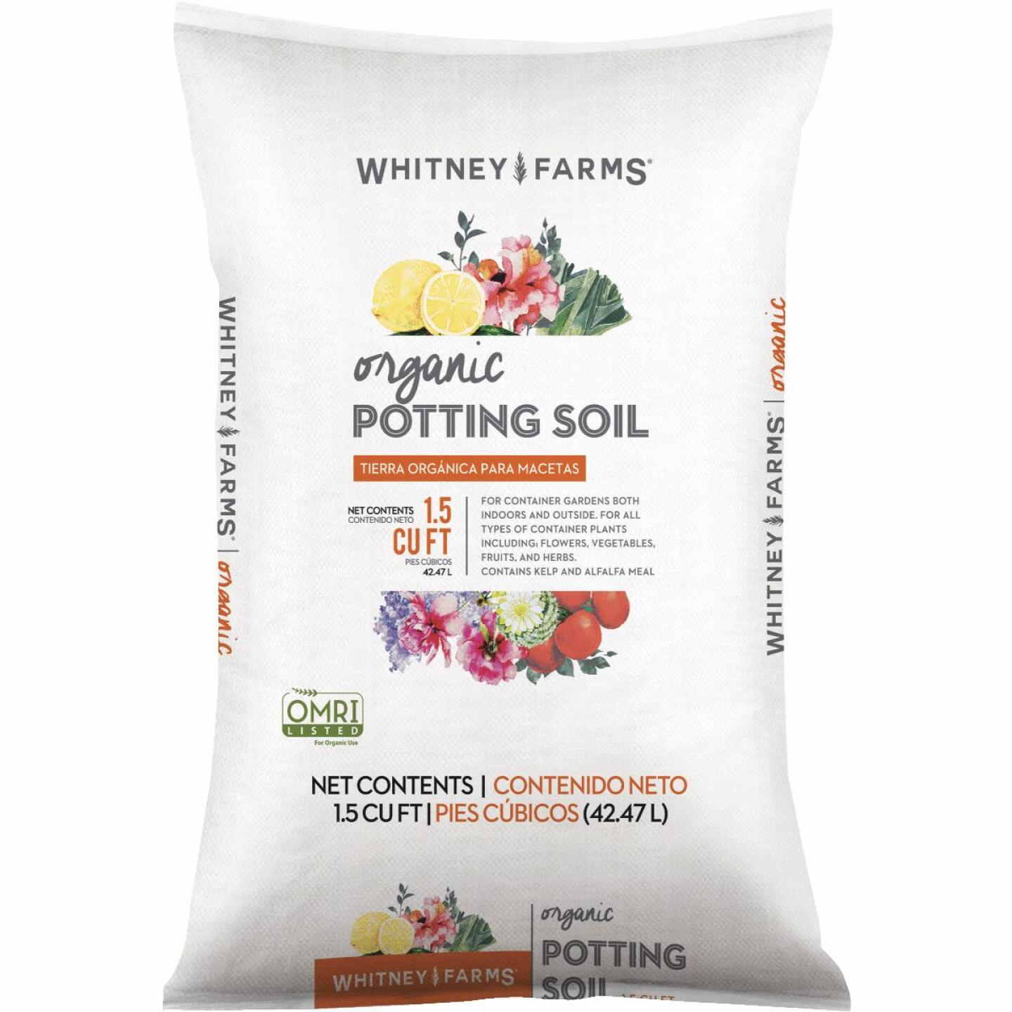 Whitney Farms 1.5 Cu. Ft. 18-1/2 Lb. All Purpose Organic Potting Soil Image 1