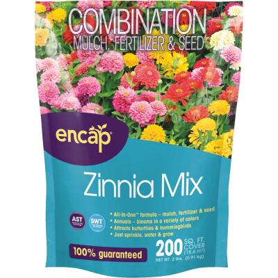 Encap All-In-One 2 Lb. 200 Sq. Ft. Coverage Zinnia Wildflower Seed Mix