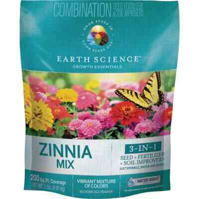Earth Science All-In-One 2 Lb. 200 Sq. Ft. Coverage Zinnia Wildflower Seed Mix