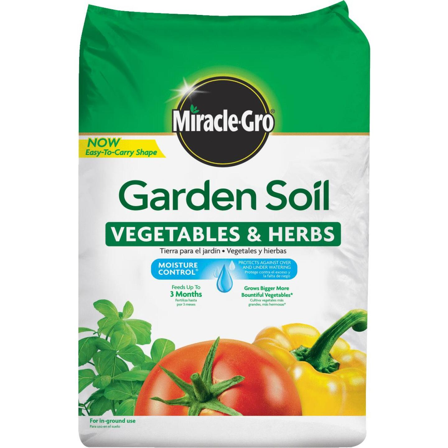Miracle-Gro 1.5 Cu. Ft. 49 Lb. In-Ground Vegetables, Herbs Garden Soil Image 1