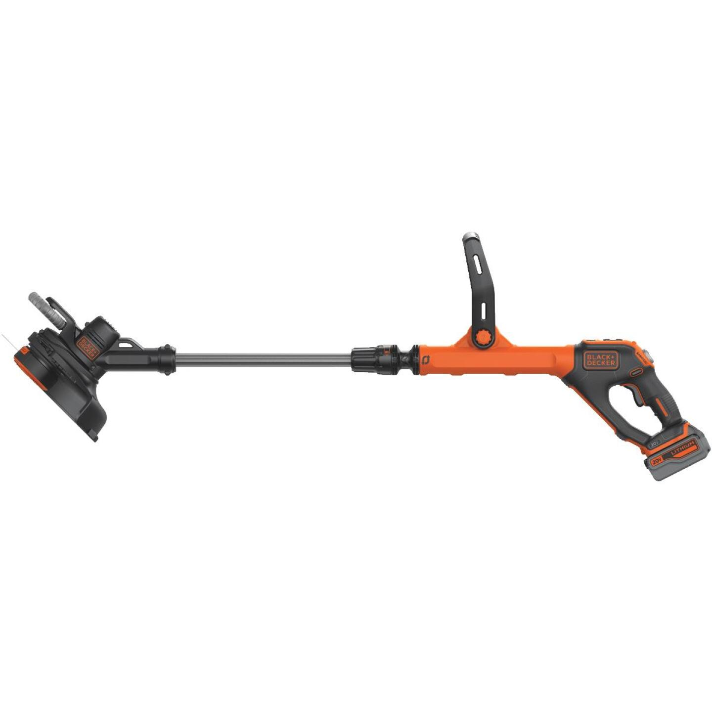 Black & Decker EasyFeed 20V MAX 12 In. Lithium Ion Straight Cordless String Trimmer/Edger Image 3