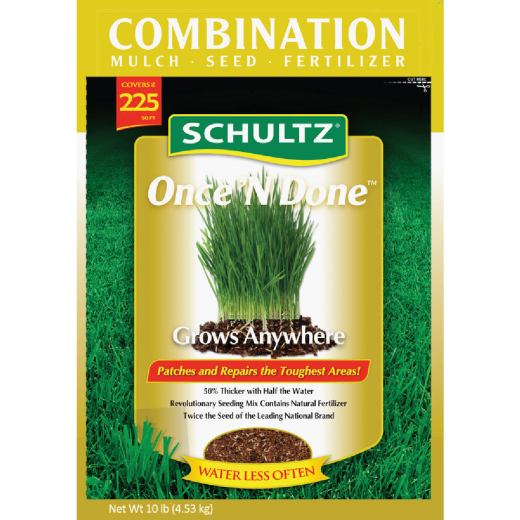 Schultz Once 'N Done 10 Lb. 225 Sq. Ft. Coverage Sun & Shade Grass Patch & Repair