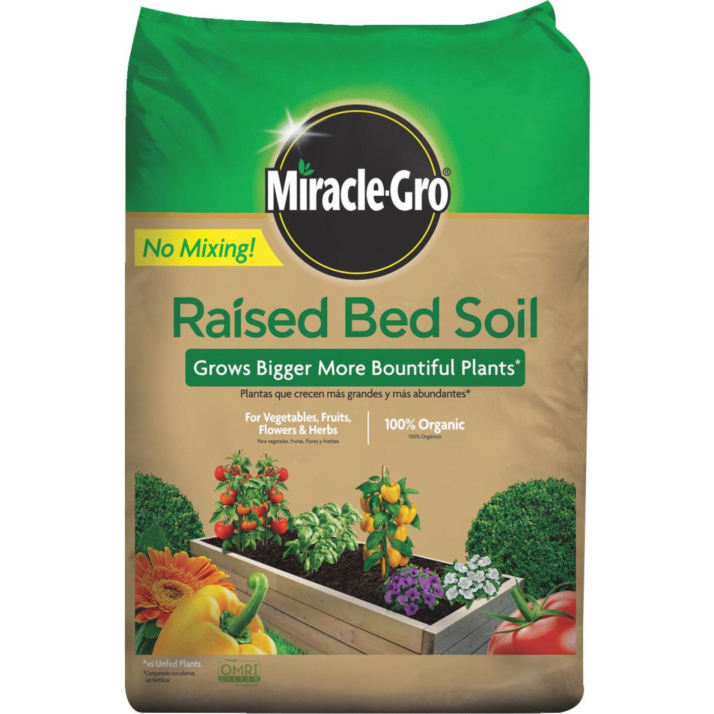 Miracle-Gro 1.5 Cu. Ft. 25 Lb. Raised Bed All-Purpose Garden Soil Image 1