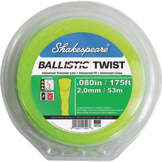 Shakespeare 0.80 In. x 175 Ft. Ballistic Twist Universal Trimmer Line