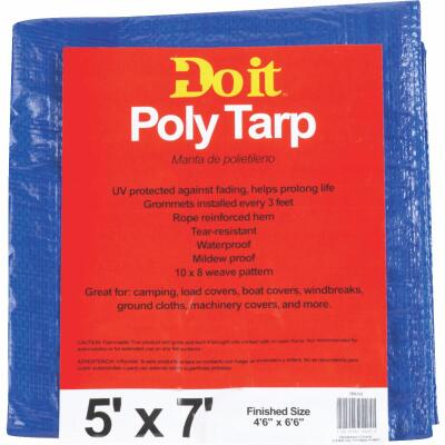 Do it Blue Woven 5 Ft. x 7 Ft. Medium Duty Poly Tarp
