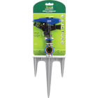 Best Garden Poly & Metal 5800 Sq. Ft. Triple Spike Impulse Sprinkler Image 2