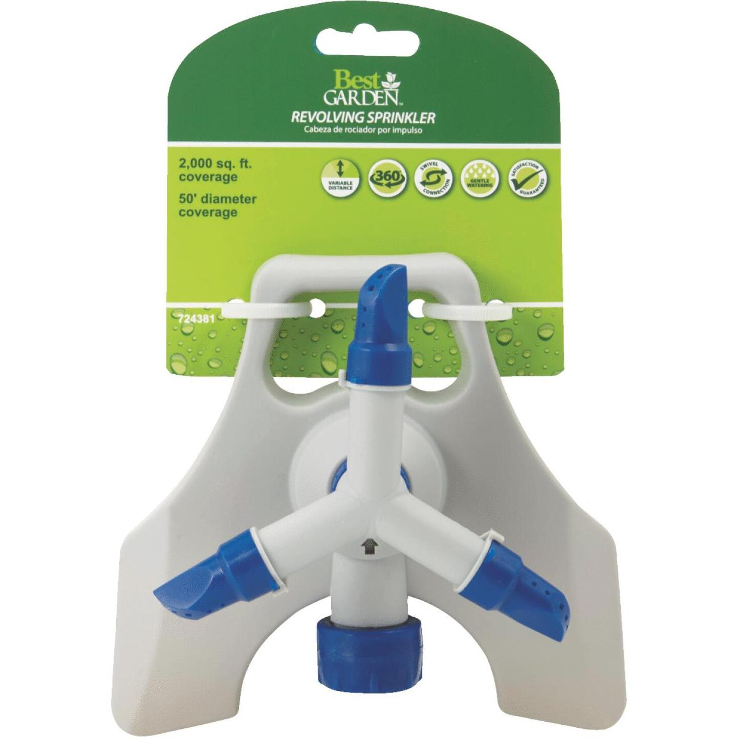 Best Garden Poly 50 Ft. Dia. 3-Arm Rotary Sprinkler Image 2