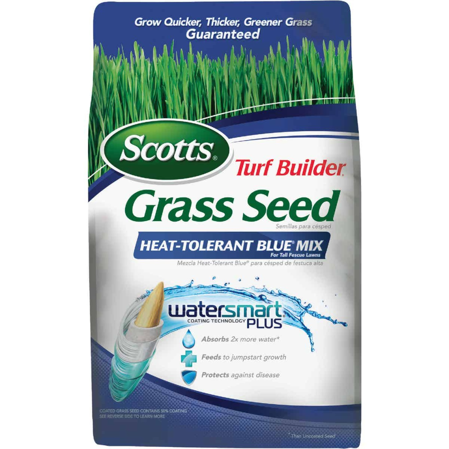 Scotts Turf Builder 3 Lb. 750 Sq. Ft. Coverage Heat Tolerant Blue Grass Seed Image 1