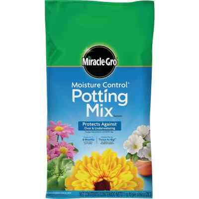 Miracle-Gro Moisture Control 1 Cu. Ft. 34 Lb. Indoor & Outdoor Potting Soil