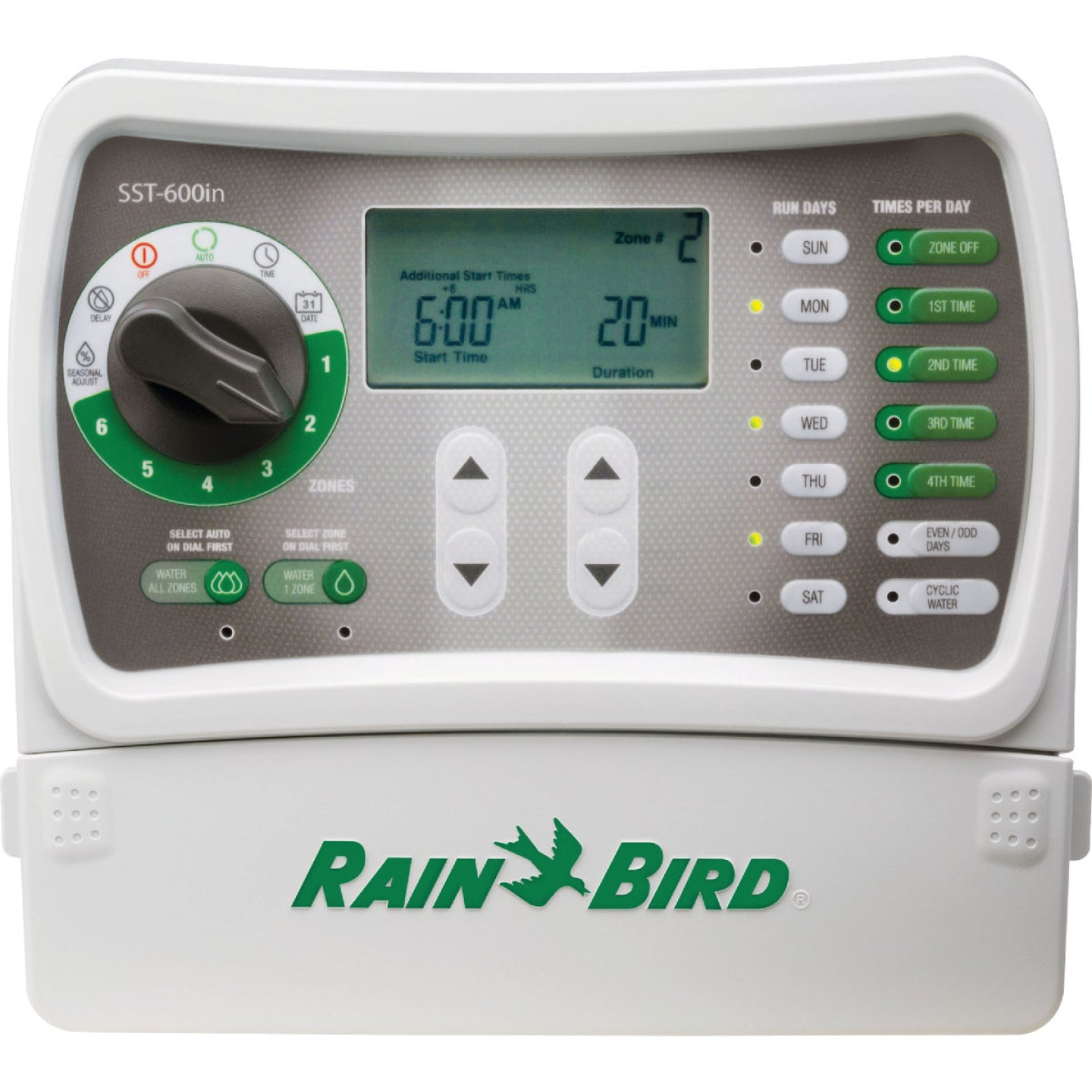 Rain Bird Simple Set 6-Station Indoor Plug-In Irrigation Sprinkler Timer Image 1
