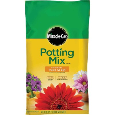 Miracle-Gro 1 Cu. Ft. 32-1/2 Lb. All Purpose Indoor & Outdoor Plants Potting Soil