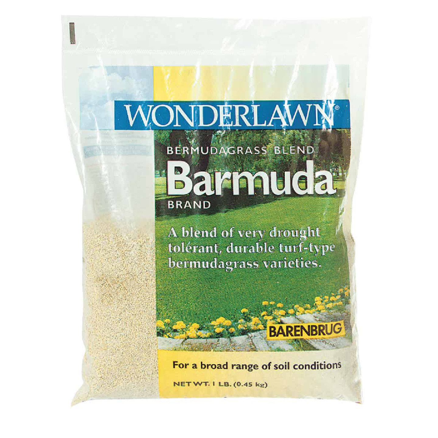 Wonderlawn 1 Lb. 225 Sq. Ft. Coverage 100% Bermuda Hulled Bermudagrass Grass Seed Image 1
