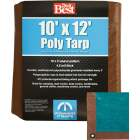 Do it Best 1 Side Green/1 Side Brown Woven 10 Ft. x 12 Ft. Medium Duty Poly Tarp Image 1
