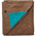 Do it Best 1 Side Green/1 Side Brown Woven 10 Ft. x 12 Ft. Medium Duty Poly Tarp Image 3