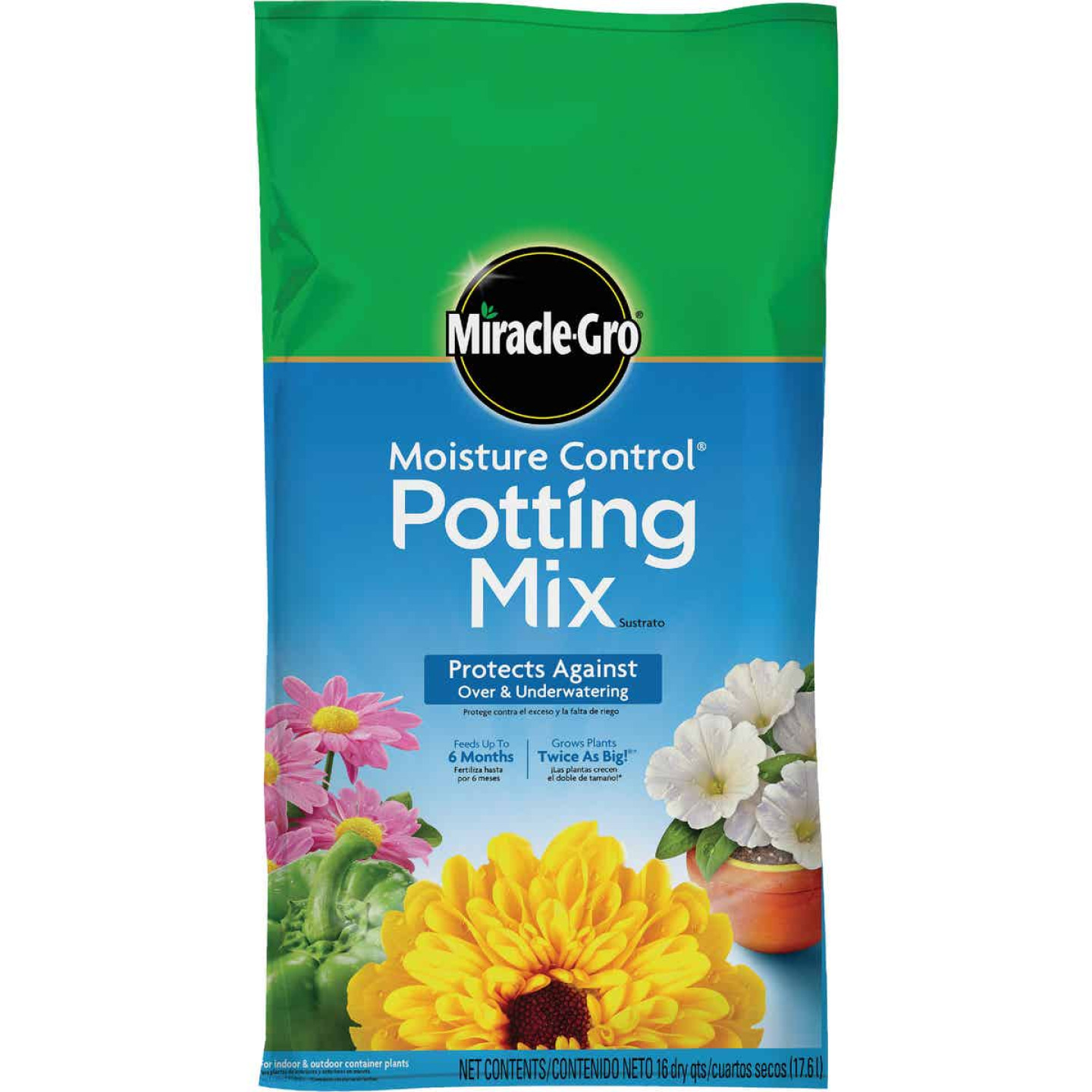 Miracle-Gro Moisture Control 16 Qt. 13 Lb. Indoor & Outdoor Potting Soil Image 1