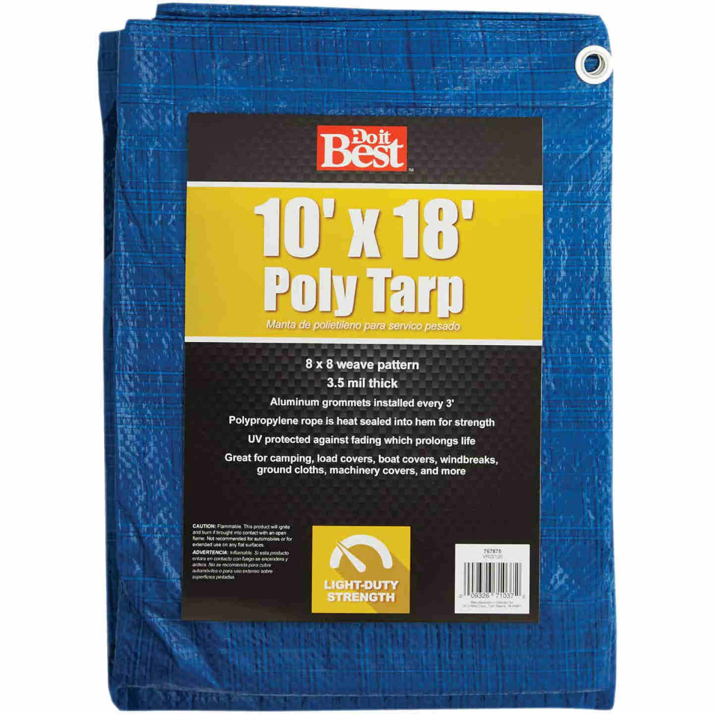 Do it Best Blue Woven 10 Ft. x 18 Ft. General Purpose Tarp Image 1