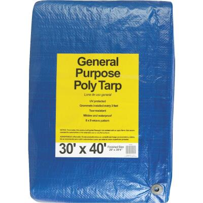 Do it Blue Woven 30 Ft. x 40 Ft. General Purpose Tarp