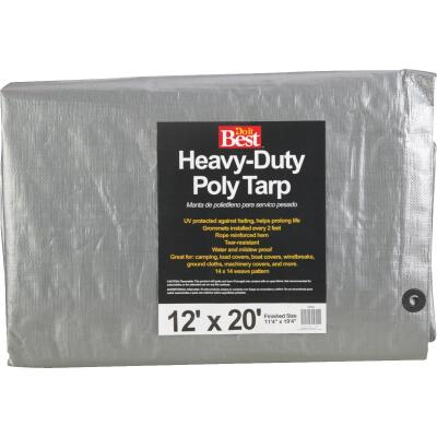 Do it Best Silver Woven 12 Ft. x 20 Ft. Heavy Duty Poly Tarp