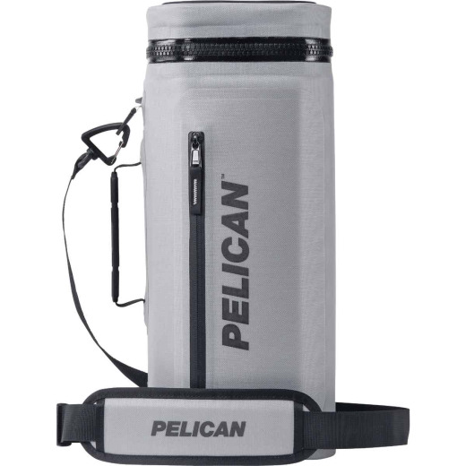 PELICAN Dayventure 12-Can Sling Soft-Side Cooler, Light Gray