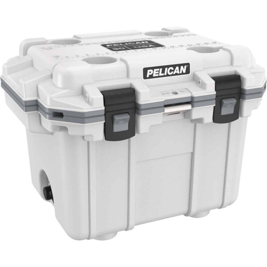 Pelican Elite 30-Qt. Cooler, White & Gray